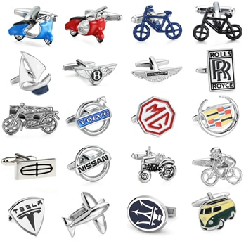Car Logo Mens Shirt Cufflinks