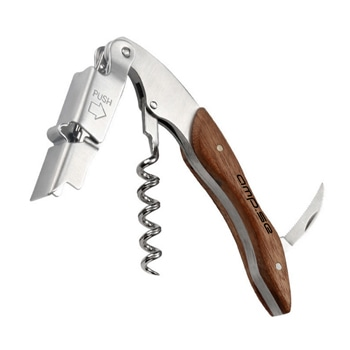 Multi-Functional Wine Opener With Wood Handle