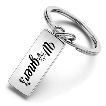 Stainless Steel Custom Engraved Keychain