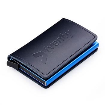 Aluminum Leather Business Card Holder