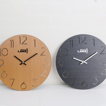 Horloge murale créative ronde en bambou