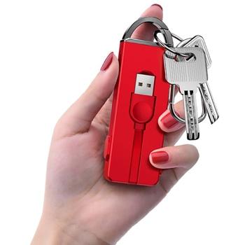 عالمي 3 في 1 المخفية كبل USB كيشاين