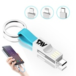 Mini USB Multi Charger Cable Keychain