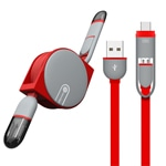 Drawn Back 2 IN 1 USB Retractable Cable