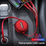 Retractable 3-in-1 Lightning Micro USB Charging Cord