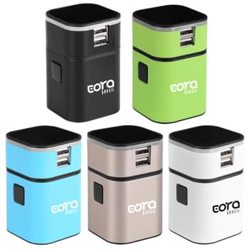 Stylish Universal Power Adapter With 2 USB Ports