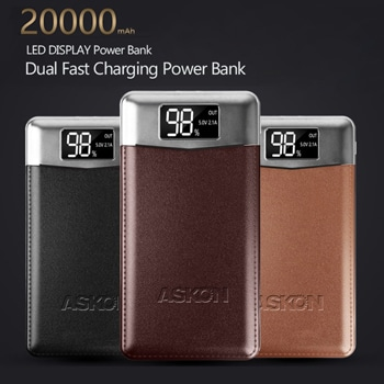 Ultra-Thin 20000mAh Power Bank With LED Dual Light