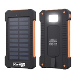 Waterproof 10000mAh Solar Power Bank With LED Light