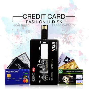 قرص فلاش (يو إس بي) بسعة 4 جيجابايت صنف 2.0 على شكل بطاقة إئتمان