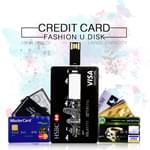 Credit Card 8GB USB 2.0 Flash Drive