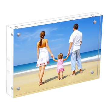Double Sided Acrylic Magnetic Photo Frame