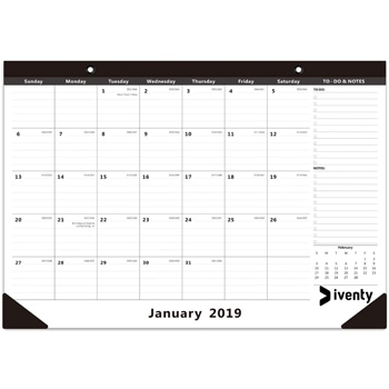 Multipurpose Monthly Desk Pad Calendar