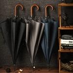 مظلة طويلة الكلاسيكية مع مقبض خشبي