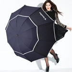 Double Windproof 3 Folding Umbrella