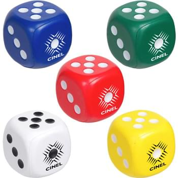 Soft Dice Shaped Stress Ball