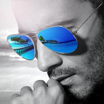 Solar Mirrored Aviator Sunglasses