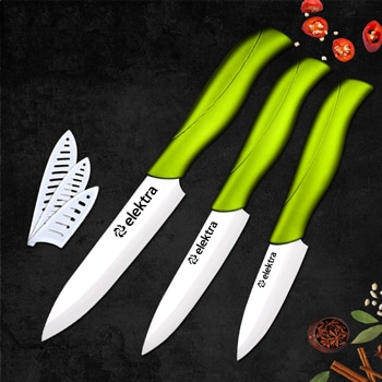 Ceramic 3-Piece Kitchen Knife Set