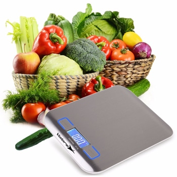 Ultra Thin Stainless Steel Digital Kitchen Scale