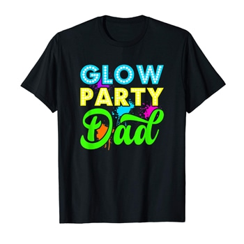 Glow Party Dad Mens T-Shirt