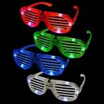 Flashing Light-Up Slotted Glasses