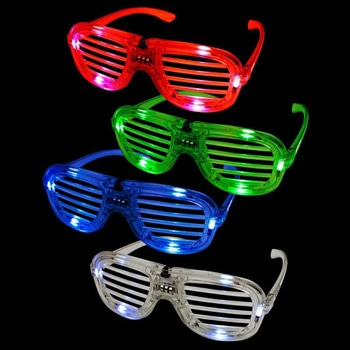 Flashing Light-Up Slotted Glasses