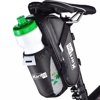 Bicycle Saddle Waterproof Bag With Mesh Pocket