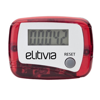 Translucent Fitness Pedometer With Clip