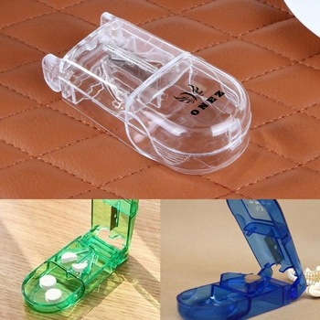 Translucent Portable Cutter Pill Holder