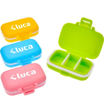 Portable Three Removable Compartments Pill Box