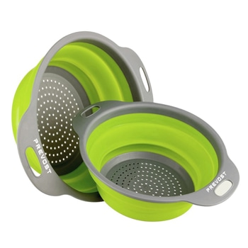 Compact Collapsible Silicone Colander Set