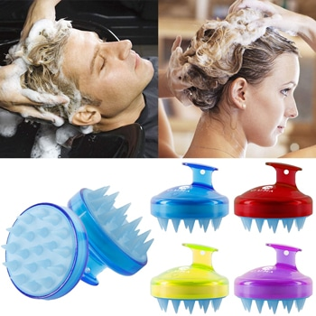 Silicone Scalp Massager Shampoo Brush