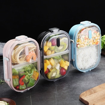 Sleek Stainless Steel Leak-Proof Lunch-Box