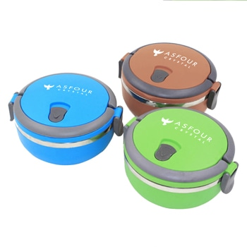 Round Shape Stainless Steel Insulated Lunch Box