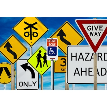 Roadway Street Safety Signs