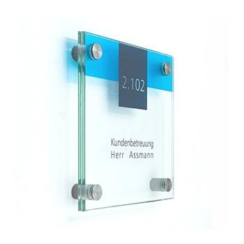 Contemporary Glass Door Sign