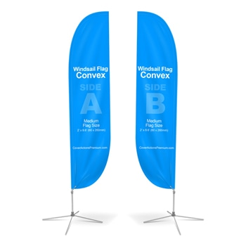 Double Sided Convex Feather Flag