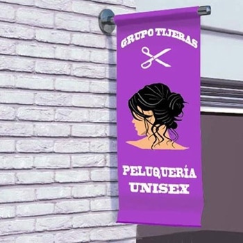 Outdoor Shop Front Wall Flag