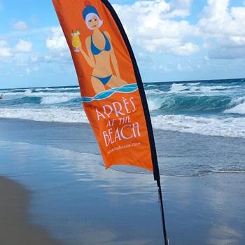 Rainy Feather Beach Flags