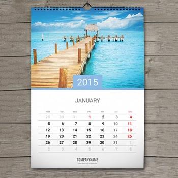 Spiral Binding Wall Calendar