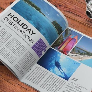 Gloss Laminated Stapled Magazine