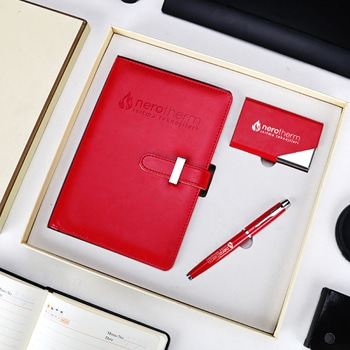 Notebook & Pen Gift Set with Premimum Card Holder