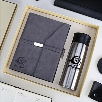 Business Notebook & Vaccum Bottle Gift Set