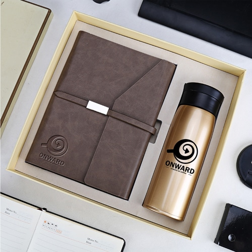 Business Notebook & Vaccum Bottle Gift Set Image 2
