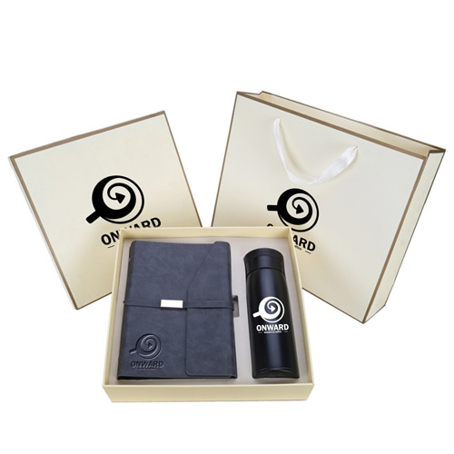 Business Notebook & Vaccum Bottle Gift Set Image 5