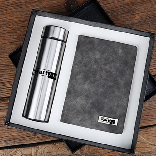 Classic Notebook Gift Set with Water Bottle
