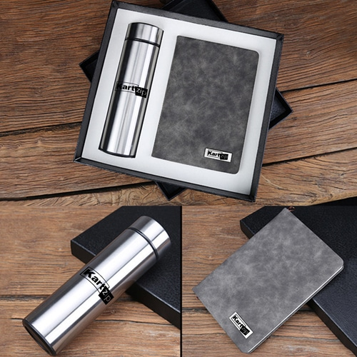 Classic Notebook Gift Set with Water Bottle Image 1