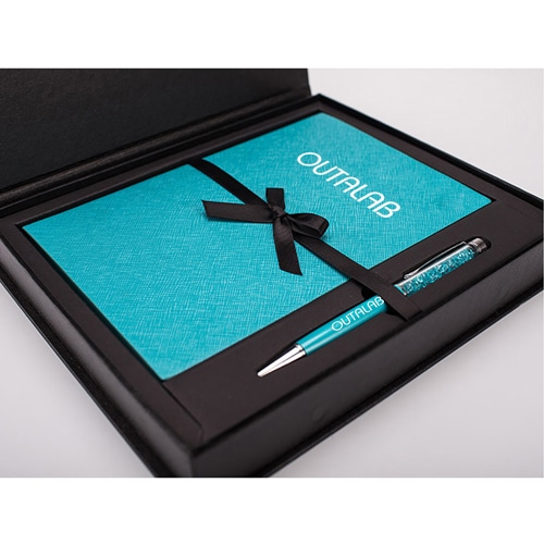 Custom Executive Notebook Gift Set with Stylus Pen Image 1