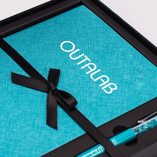 Custom Executive Notebook Gift Set with Stylus Pen Image 2