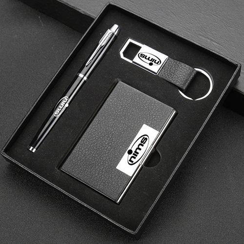 Elegant Card Holder, Pen & Metal Keychain Gift Set Image 5