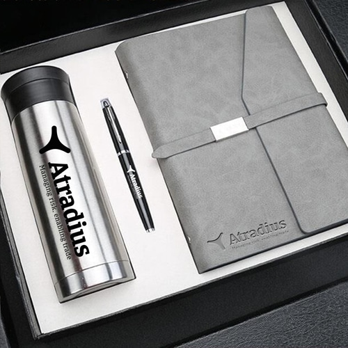 Corporate Notebook, Pen & Thermos Gift Set Image 2